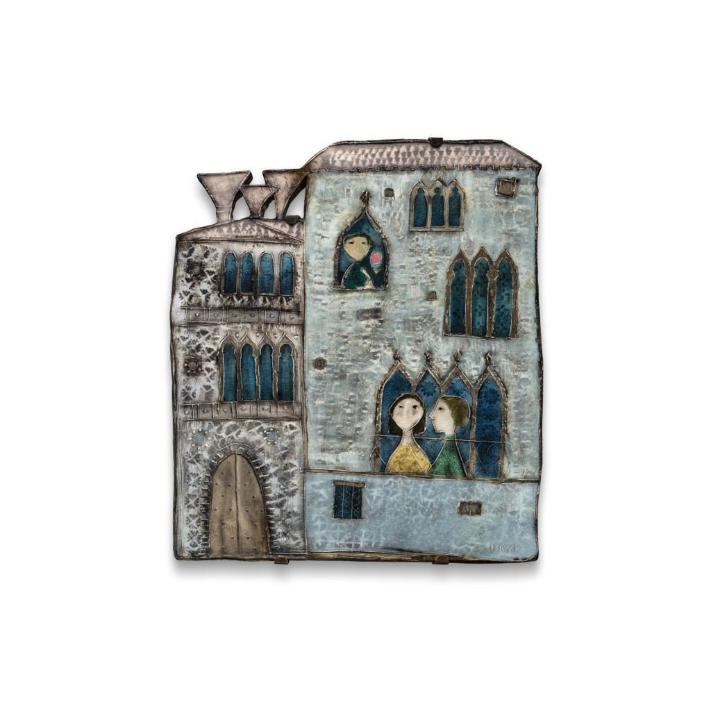 Seinälaatta, sarjasta Venetsialainen palatsi
